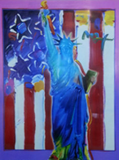 United We Stand  II 2005 Unique 24x18 Works on Paper (not prints) - Peter Max