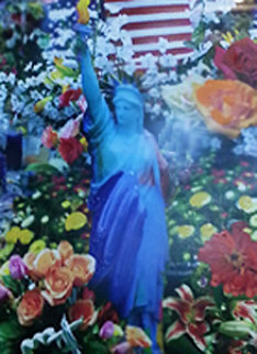 Land of the Free Home of the Brave  II 2005 Unique Works on Paper (not prints) by Peter Max
