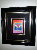 Angel With Sun on Blends 2006 26x24 Works on Paper (not prints) by Peter Max - 2