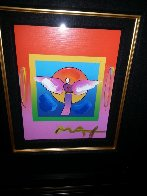 Angel With Sun on Blends 2006 26x24 Works on Paper (not prints) by Peter Max - 1