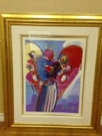 Angel With Heart Unique 36x29 Works on Paper (not prints) by Peter Max - 1