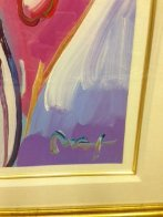 Angel With Heart Unique 36x29 Works on Paper (not prints) by Peter Max - 2
