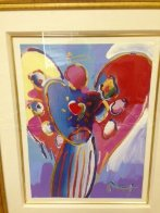 Angel With Heart Unique 36x29 Works on Paper (not prints) by Peter Max - 3