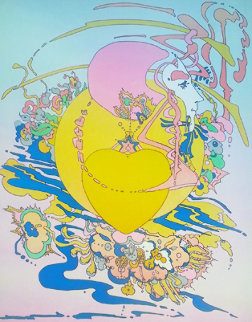 Heart (Orange) AP (early) 1973 Limited Edition Print - Peter Max