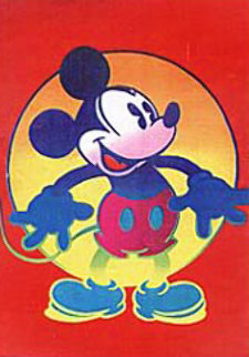 Disney's Mickey And Minnie set of 2 1996 Limited Edition Print - Peter Max