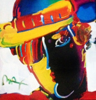 Retro V Zero Spectrum 14 Unique 22x22 Works on Paper (not prints) by Peter Max