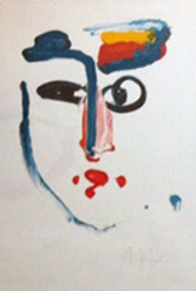 Visage 1977 Limited Edition Print by Peter Max