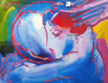 Peace By the Year 2000 (2001) Unique 37x43 Works on Paper (not prints) by Peter Max