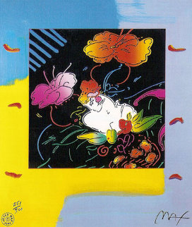 Lady in Floating Flowers 2004 Limited Edition Print - Peter Max