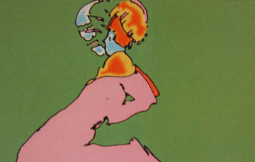 Facing Left 1976 (Vintage) Limited Edition Print - Peter Max