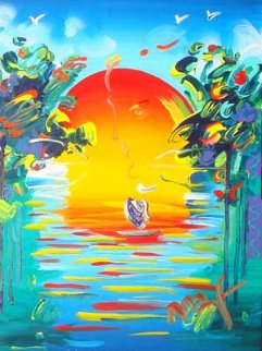 Better World Ver. V #24 2006 28x24 Original Painting by Peter Max