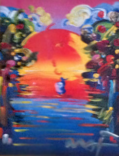 A Better World III 1999 Unique 37x30 Works on Paper (not prints) by Peter Max