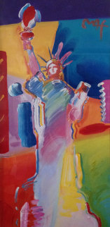 Statue of Liberty Unique 53x34 Works on Paper (not prints) by Peter Max