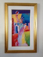 Statue of Liberty Unique 53x34 Works on Paper (not prints) by Peter Max - 2