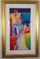 Statue of Liberty Unique 53x34 Works on Paper (not prints) by Peter Max - 1