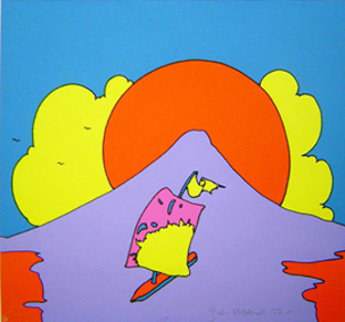 Floating in Peace 1972 Limited Edition Print by Peter Max