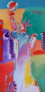 Statue of Liberty Unique 53x54 Works on Paper (not prints) by Peter Max
