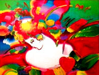 Flower Blossom Lady No. 14 1994 46x55 Super Huge Works on Paper (not prints) by Peter Max - 0