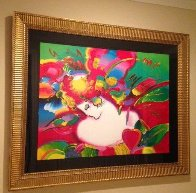 Flower Blossom Lady No. 14 1994 46x55 Super Huge Works on Paper (not prints) by Peter Max - 1