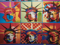 Liberty and Justice For All Unique 2001 24x18 Works on Paper (not prints) by Peter Max - 2