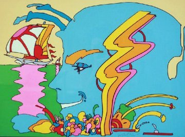 Mystic Sailing AP 1972 Limited Edition Print by Peter Max