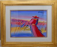 Walking in Reeds 1999 30x36 Works on Paper (not prints) by Peter Max - 1