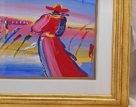 Walking in Reeds 1999 30x36 Works on Paper (not prints) by Peter Max - 2