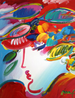 Blushing Beauty 2010 40x30 Huge Works on Paper (not prints) - Peter Max