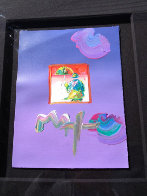 Umbrella Man 23x27 Works on Paper (not prints) by Peter Max - 1