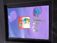 Umbrella Man 23x27 Works on Paper (not prints) by Peter Max - 2
