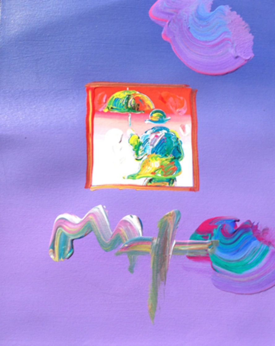 Umbrella Man 23x27 Works on Paper (not prints) by Peter Max