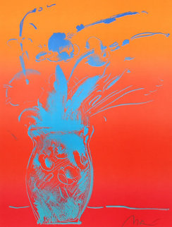 Blue Vase 1981 Limited Edition Print by Peter Max