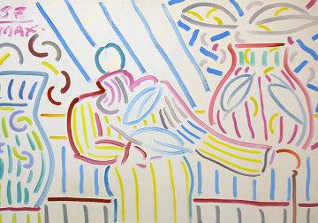 Peter Max # 32 1987 40x30 Super Huge Original Painting - Peter Max