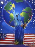 Peace on Earth 2001 Unique 39x33 Works on Paper (not prints) by Peter Max - 0