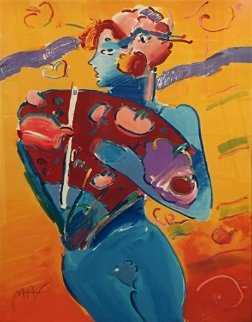 Nude Fan Dancer  Limited Edition Print by Peter Max
