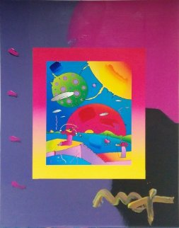 Year of 2250 (Overpaint) Unique 2006 19x15  Works on Paper (not prints) by Peter Max
