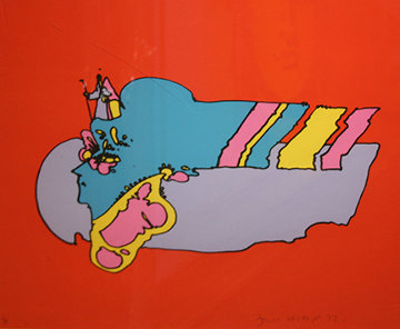 Witness From Above 1972 (Early) Limited Edition Print by Peter Max