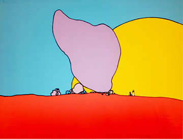 Rocks And Sun 1971 (Early) Limited Edition Print by Peter Max