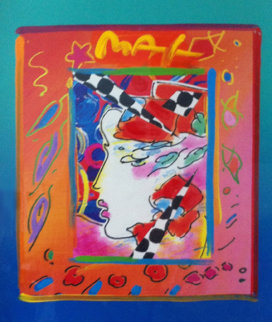 Profile 1998 Unique 14x12 Works on Paper (not prints) - Peter Max