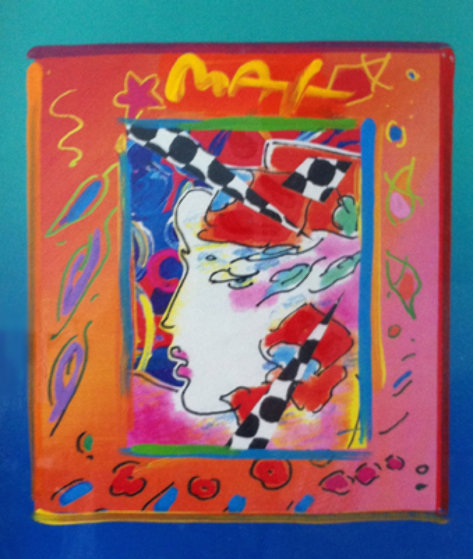 Profile 1998 Unique 14x12 Works on Paper (not prints) by Peter Max