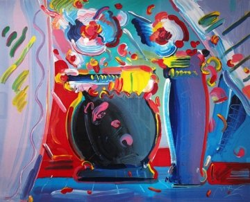 Flower Blossom III 1991 Limited Edition Print by Peter Max