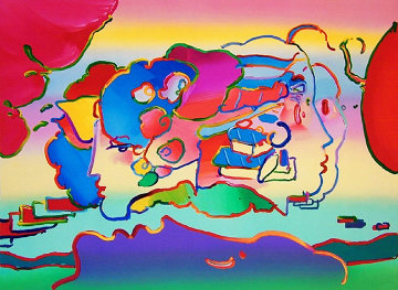 Three Faces 1991 Limited Edition Print - Peter Max