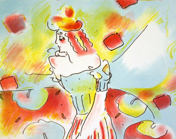 Composition Red And Green Limited Edition Print by Peter Max