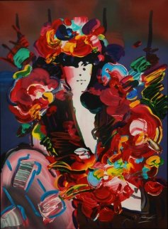 Brown Lady 1991 Limited Edition Print by Peter Max