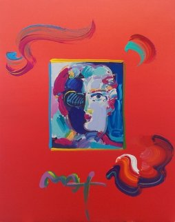Fauve (Overpaint) 2010 Unique 16x12 Works on Paper (not prints) by Peter Max