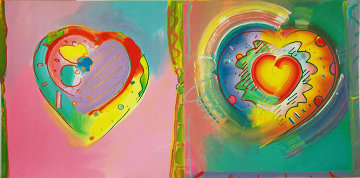 Hearts II AP 1992 Limited Edition Print by Peter Max