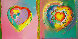 Hearts II AP 1992 Limited Edition Print by Peter Max - 0