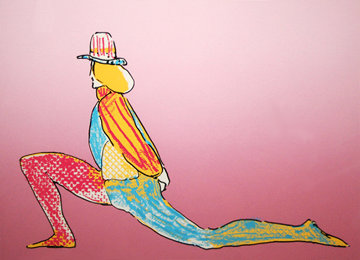 Performer With Hat 1979 (Early) Limited Edition Print by Peter Max