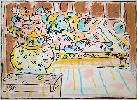 Lady on Couch With Vase 1978 Limited Edition Print by Peter Max - 0