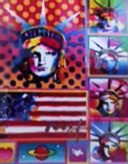 Five Liberties Unique 18x14 Works on Paper (not prints) by Peter Max